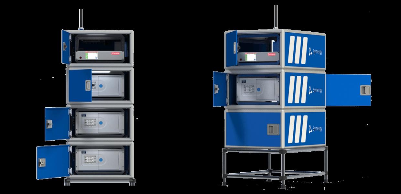 Shelter hardbox modular (diseño vertical) para analizadores de calidad del aire Horiba AP