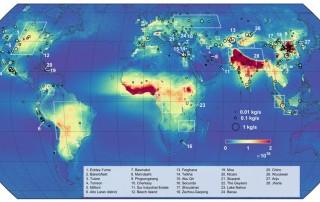 Primer mapa mundial del amoniaco atmosférico