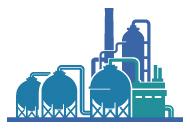 Petroquímica, Plantas Químicas y Refinerías
