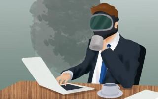 El aire tampoco es puro en su oficina