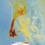 Seguimiento de aerosoles provocados por los incendios de California