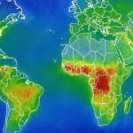 Un satélite descubre grandes cantidades de aire contaminado en Africa, India y el sudeste asiático