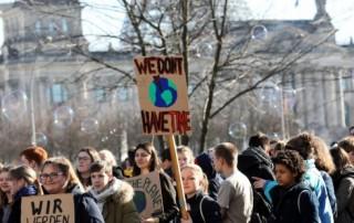 Escolares británicos y alemanes se suman a los belgas en el parón por el cambio climático